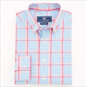 New Small Waterton Plaid Whale Shirt Size Small